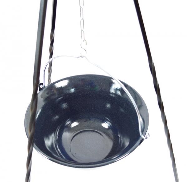 dreibein gulaschtopf 10l 14l grillrost kombinierbar feuerstelle schwenkgrill ebay. Black Bedroom Furniture Sets. Home Design Ideas